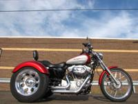SPORTSTER 1200 CUSTOM XL1200C TRIKE   BURGANDY AND