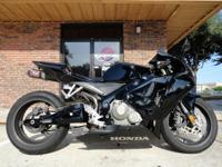 2005 Honda cbr600rr, Black, 10K, Stretched And Lowered,