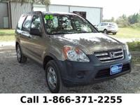2005 Honda Cr-v LX Features: Keyless Entry - Tinted