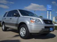 2005 Honda Pilot LX 4WD pre owned silver suv for sale