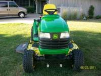 FOR SALE IS A SUPER NICE JOHN DEERE X585 GAS ENGINE 4X4