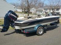 Has 200 HP Evenrude Etec with not many hours on it, 24