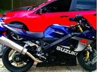 2005 GSXR 750. Full high mount Hindle exhaust, power