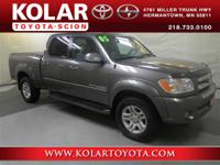 Tundra SR5, 4Door Double Cab, 4WD, and Local Trade-in.