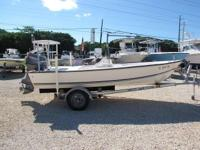 This 2006 Palm Beach 17' Center Console is powered by a