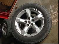 stock 20' wheels fits anything with a 5x5 bolt pattern,
