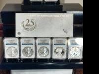 2006, 2011, 2012 American Silver Eagle Anniversary