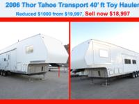 Stock Number: 726726. Toy Hauler, Over $48,000 NEW,