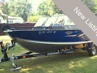 This 2006 Alumacraft 175 Navigator Sport is powered by