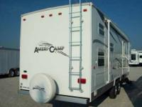 Americamp Fifth Wheel Gooseneck camper.  Very well