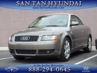 New Arrival! LOW MILES, This 2006 Audi A4 1.8T will