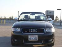 Options:  2006 Audi A4 1.8T 2Dr Convertible|Black|Air