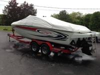 Single Mercury 375hp, Bravo1 77 hrs, Outboard, Depth