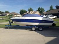 Gently used Bayliner cuddy cabin with 305ci Mercruiser.