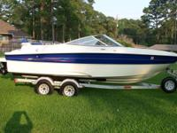 This is a 21 ft. V-bottom Bayliner ( Model 219SD)