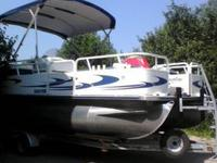2006 Bentley 200 Fish, 50hp Mercury EFI Outboard Motor,