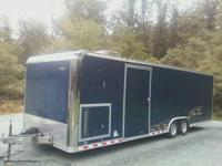 2006 blue pace american car trailer hauler inclosed 28