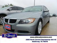 Say hello to your new vehicle, this black 2006 BMW 3