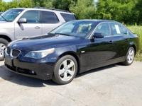 CARFAX One-Owner. Clean CARFAX. Black 2006 BMW 5 Series