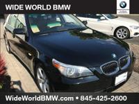Clean CARFAX. Jet Black 2006 BMW 5 Series 530xi AWD