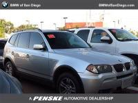 This 2006 BMW X3 4dr X3 4dr AWD 3.0i SUV features a