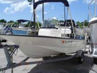 A hard to Find USED 2006 Boston Whaler 150 Montauk. It