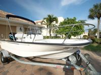 ABSOLUTELY PRISTINE 17 BOSTON WHALER MONTAUK. THIS IS A
