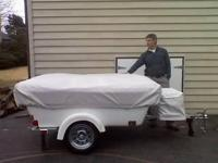 For Sale is a Motorcycle camper camping tent trailer.