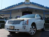 2006 CADILLAC SRX WHITE WITH TAN LEATHER INTERIOR. CAR