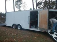 Enclosed trailer with air and air dryer unit for air