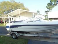 2006 Chaparral 18 ft bowrider with magic tilt trailer,