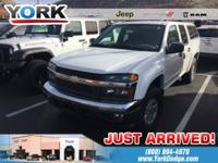 CARFAX One-Owner. White 2006 Chevrolet Colorado LT 4WD
