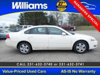 Options:  2006 Chevrolet Impala Lt|White| This Vehicle