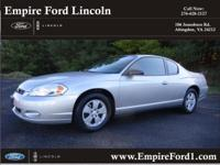 Options:  2006 Chevrolet Monte Carlo Lt|Lt 2Dr Coupe