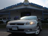 2006 CHEVROLET MONTE CARLO SS SILVER WITH BLACK LEATHER