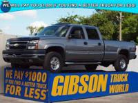 WWW.GIBSONTRUCKWORLD.COM 2006 Chevy Silverado 2500 LT3