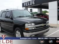 Black 2006 Chevrolet Tahoe **4 WHEEL DRIVE**, **HEATED