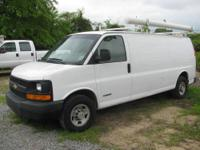 2006 Chevy 2500 Express Extended Cargo Van - white -