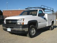 2006 Chevy 2500 HD w/ 8' Utility Body & Pipe Rack,
