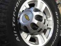"One set of used 17"" Chevy factory 8 lug 2500HD wheels"