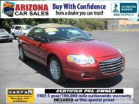 **CERTIFIED! 5 YEAR-100,000 MILE WARRANTY!** CarFax