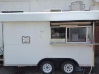 This is a 2006 concession trailer. It has 3 serving