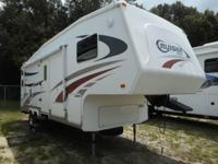 This 28' Fifth Wheel has one slide-out and plenty of