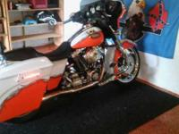 2006 Street Glide customized with stretch bags, wide