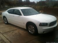 White dodge charger! V6 with 3.5 l high output with