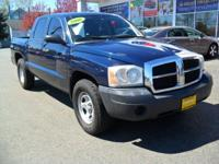 From work to weekends, this Blue 2006 Dodge Dakota ST
