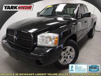 This Dakota is a Carfax single owner, low mileage, and
