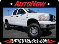 2006 DODGE RAM 1500 CREW CAB 4X4 LIFTED TRUCK FOR SALE.