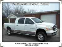 Options:  2006 Dodge Ram 2500 Mega Cab!! 4Wd Good Tires