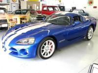 '06 Viper - blue exterior with silver stripe and black